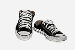 Chaussure noire de vintage Image stock