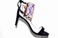 Chaussure pour la dame dans l'effet de tache floue Photo libre de droits