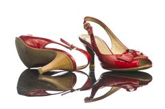 Chaussure rouge Photo libre de droits