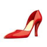 Chaussure rouge sur le blanc Photographie stock libre de droits
