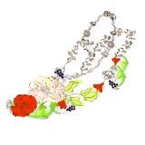 Chaussure stylisée florale Photographie stock