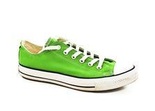 Chaussure verte de vintage Photo stock