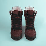 Chaussures élégantes de Brown Photos stock