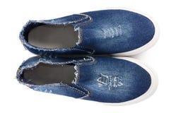 Chaussures élégantes de sport de femmes d'isolement Photos libres de droits