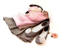 Chaussures, accessoires et vêtement Photos stock