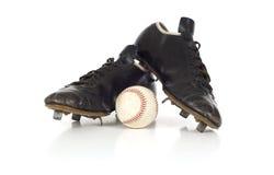 Chaussures antiques de base-ball de cru Image stock