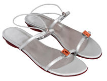 Chaussures argentées image stock
