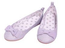 Chaussures argentées de princesse Photos libres de droits