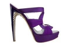 Chaussures avec de hauts talons Photo stock