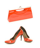 Chaussures avec le sac à main Images stock
