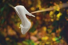 Chaussures blanches Image libre de droits