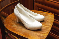 Chaussures blanches Photographie stock