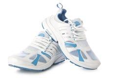 Chaussures blanches de sport Photo libre de droits