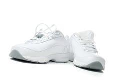 Chaussures blanches de sport Photos stock