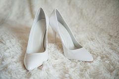 Chaussures blanches pointues Photos libres de droits