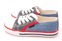 Chaussures bleues Photographie stock libre de droits