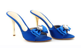 Chaussures bleues Photo stock