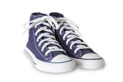 Chaussures bleues de sport Photo stock