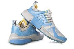 Chaussures bleues de sport Photo libre de droits