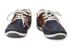 Chaussures bleues de sport Photographie stock libre de droits
