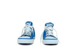 Chaussures bleues pour le mâle Photo libre de droits