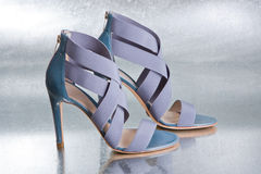 Chaussures bleues sexy Photos libres de droits