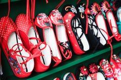 Chaussures brodées par Chinois Photographie stock