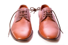 CHAUSSURES BRUNES Image stock
