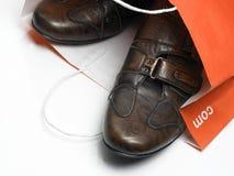chaussures brunes Photo libre de droits