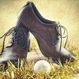 Chaussures, cadeaux de Noël Photographie stock