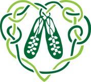 Chaussures celtiques de coeur Image libre de droits