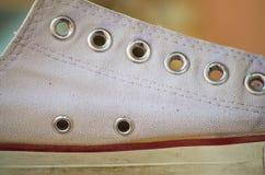 Chaussures, chaussure, chaussures, chaussures de toile de botte, espadrilles Images stock