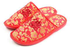 Chaussures chinoises rouges Photos stock