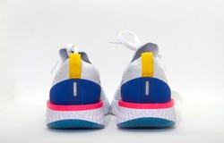 Chaussures colorées de sport dans la vue arrière Photos libres de droits