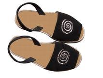 Chaussures d'été de bascule électronique avec le chemin de découpage photo stock