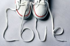 Chaussures d'amour Images stock