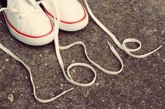 Chaussures d'amour Photographie stock libre de droits