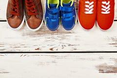 Chaussures d'enfant et d'adulte Photos libres de droits