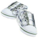 Chaussures d'espadrille classées par enfant coloré Photo stock