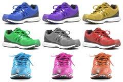 Chaussures d'espadrille de fonctionnement et de mode Images libres de droits
