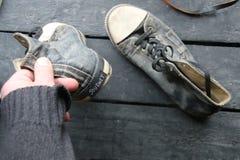 Chaussures d'espadrille de label et de vintage de voyage Photo stock