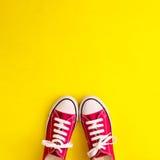 Chaussures d'espadrille de vintage Images stock