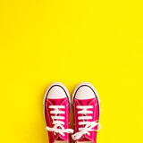 Chaussures d'espadrille de vintage Image libre de droits