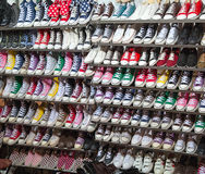 Chaussures d'espadrille en vente Photographie stock