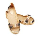 Chaussures d'espadrilles d'isolement Photos libres de droits