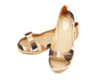 Chaussures d'espadrilles d'isolement Photographie stock