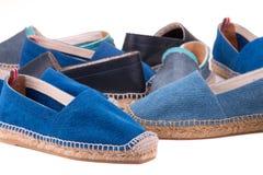 Chaussures d'espadrilles en gros plan Images stock