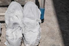 Chaussures d'espadrilles enveloppées dans le tissu Photo libre de droits