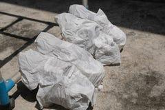Chaussures d'espadrilles enveloppées dans le tissu Photos stock