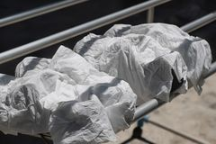 Chaussures d'espadrilles enveloppées dans le tissu Photos libres de droits